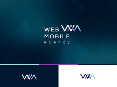 The logo for Web&Mobile agency, version 1 graphic  design logodesign icon vector logo design