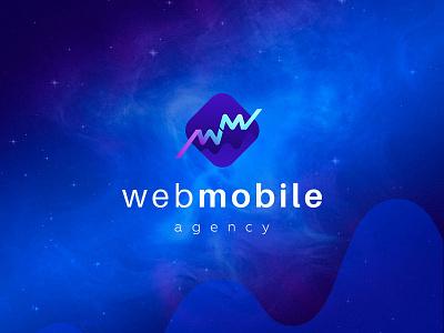 The logo for Web&Mobile agency, version 2 vector logodesign logo icon graphic  design design