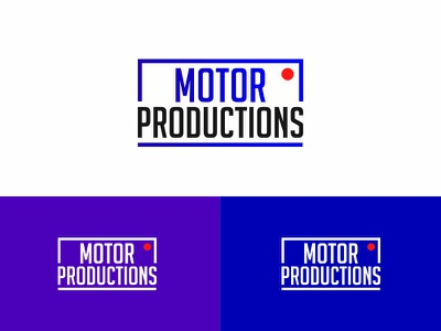 The logo for Motor Production, version 3 minimal lettering typography illustration icon vector logodesign logo graphic  design design