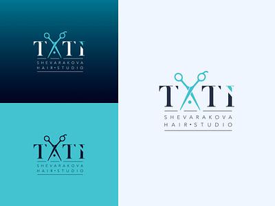 The logo for Shevarakova Hair Studio icon vector logodesign logo graphic  design design