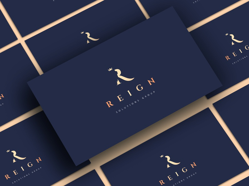 The logo for Reign Solutions Group, version 2 typography lettering illustration minimal icon vector logodesign logo graphic  design design