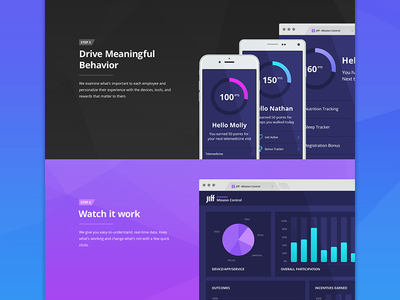 Jiff Landing Page ui ux landing page home page illustration open sans layout