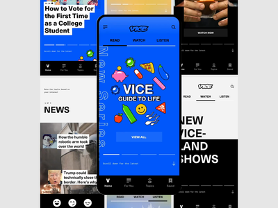 VICE viceland vice ui design motion metalab daily content app
