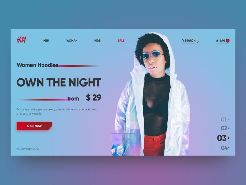 H&M desktop website typography desktop header design web shop web site web ui  ux grid fashion minimal clean e-comerce concept re-design design