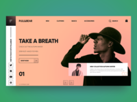 Pull&Bear header layout