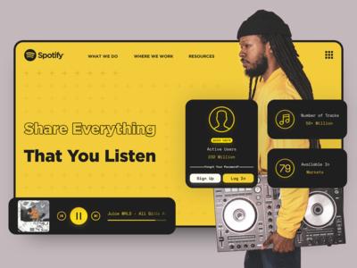 Spotify Redesign Header