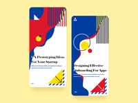 Startup Onboarding UI - Bauhaus Colors Palette