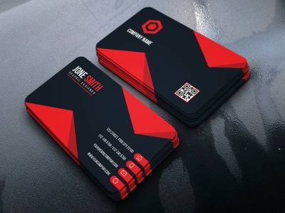 Corporate Business Card Template logo design flyer card redesign stationery print design modern design idcard professional business card office illustration colorful identity simple professional design creative corporate business card branding