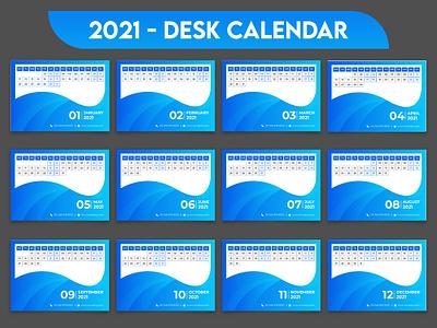 2021 Desk Calendar Template Design calendar template corporate business 2021 calendar desk calendar 2021 desk calendar 2021