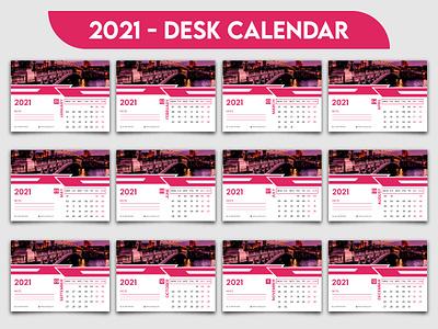 2021 desk calendar template minimal design horizontal calendar desk calendar 2021 desk calendar desk day date creative calendar corporate calendar calender calendar 2021