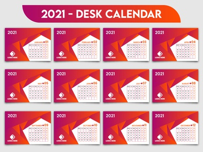 2021 Creative Desk Calendar Template Design office month monday desk calear 2021 desk design day date corporate calendar 2021 calendar