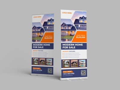 Real Estate Roll Up banner signage roll-up banner roll-up roll up banner real estate flyer real estate property roll up banner promotion modern marketing home flyer creative corporate flyer corporate business banners agency advertisement advert
