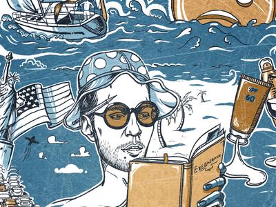"Illustration for the magazine ""GQ"""