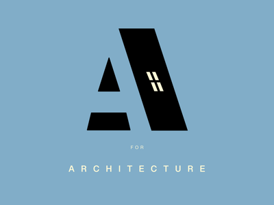 A for Architecture typography art art caligraphy typography logodesign logos logo