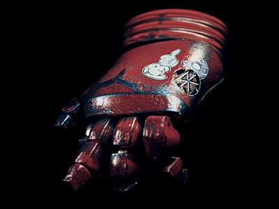 Iron Man´s runaway glove metal shader iron man cinema 4d c4d arnold