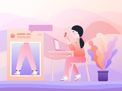 A Nice Day vector ui illustration design