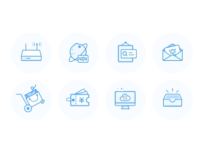 Empty state illustration app icon ui