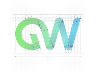 Green Web. Part 1. Grid logotype grid grid logo blue green logo brand branding