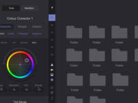 Blackmagic DaVinci Resolve UI