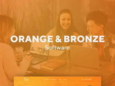 Orange & Bronze Website