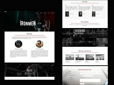 website for gym branding ux ui illustration blackandwhite responsive frontend design design website gym ironman