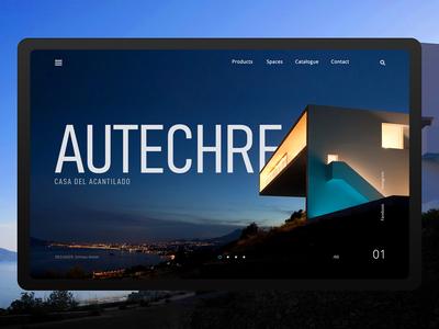 Autechre (main page design concept)