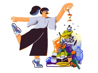 Bad advice sneakers girl character recycle eco zerowaste