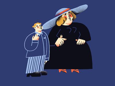 Wow joke female texture illustration character