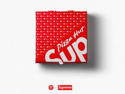 Supreme x Pizza Hut Top View