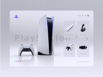 Sony PlayStation 5 Landing Page landing page minimal design controller branding ps4 ps web website ui ux sony playstation inspiration light bitbithooray gaming ps5 playstation5 playstation