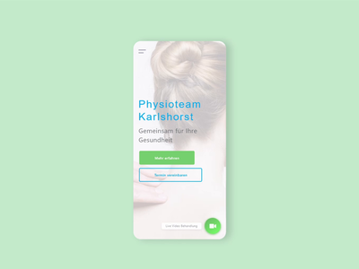 Mobile Website Animation for the Promotion of a Physiotherapy adobe xd mobile service information medical physiotherapy ux design ui design website design branding bitbithooray animation