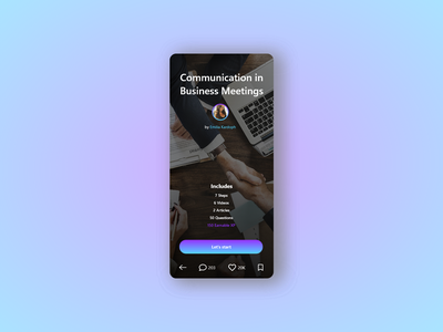 Course Overview of SWAP The Social Learning Network design minimal pwa mobile course elearning ui ux dark bitbithooray branding app