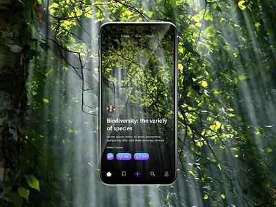 Course App for Natural Science - Tiktok Style webapp elearning minimal natural science ui app ux mobile tiktok course app nature design bitbithooray