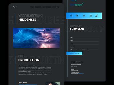 Weather Broadcast Studio Website / Landing Page case study web design design blue icons weather forecast weather dark branding website ui ux bitbithooray