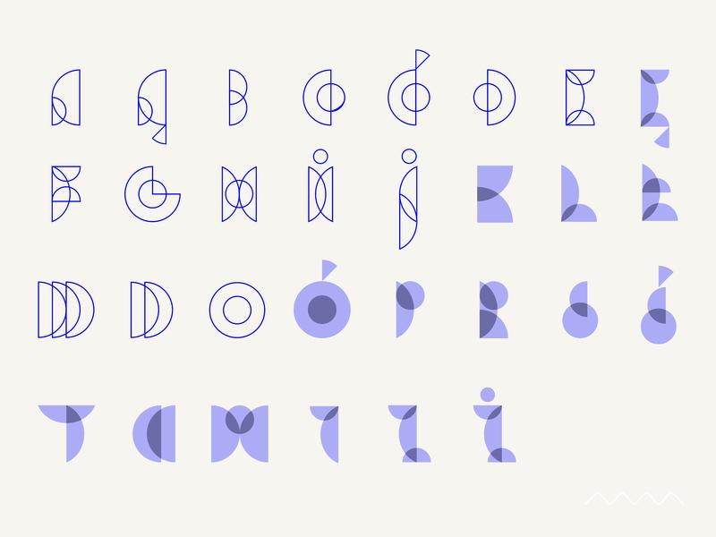 Kółko / Circle font typography bauhaus lettering geometry typeface alphabet type letter circle line font vector minimal design simple graphic marmarka