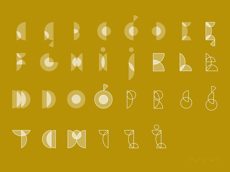 Kółko / Circle font alphabet bauhaus typography type geometry circle lettering font vector minimal design simple graphic marmarka