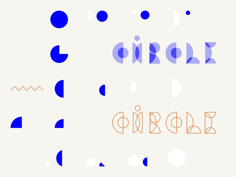 Kółko / components of typeface words lettering geometric modern playful components bauhaus type typography simple vector print design minimal pattern graphic marmarka