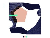 Composition 2 / aquamarine