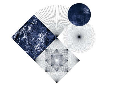 Composition 3 / navy blue