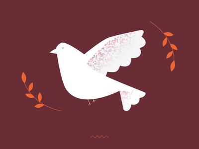 Dove of peace / illustration