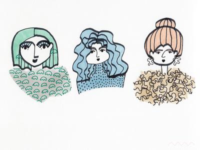3 x portrait / Girl power!
