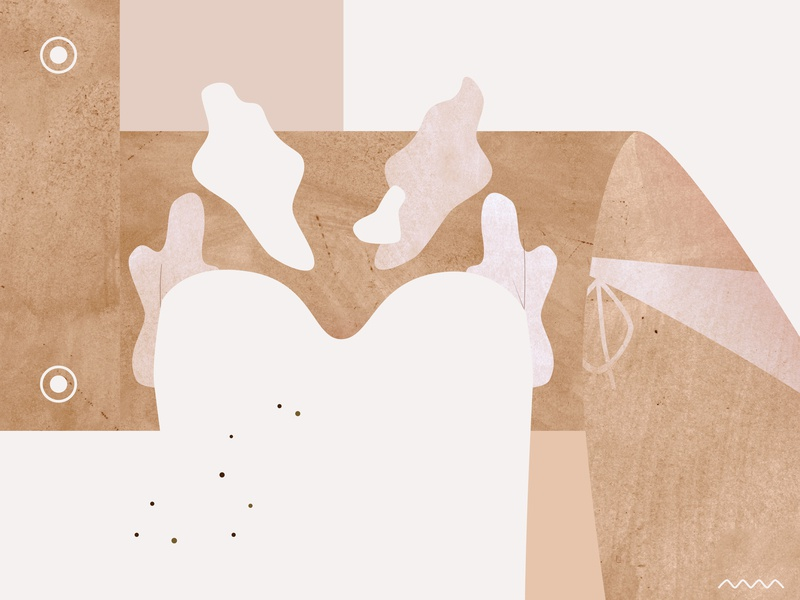 Summer body mood / collage nude tones neutrals composition figure summer tan body simple concept natural minimalism body positivity print graphic skin woman collage illustration marmarka