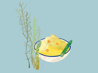 hummus with asparagus / illustration to the recipe