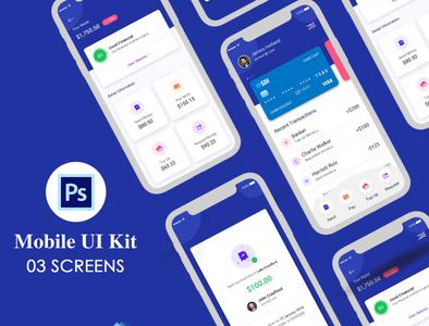 New Digital Bank App UI Kit profile user profile flight booking app booking app app apps application app psd ios android free psd