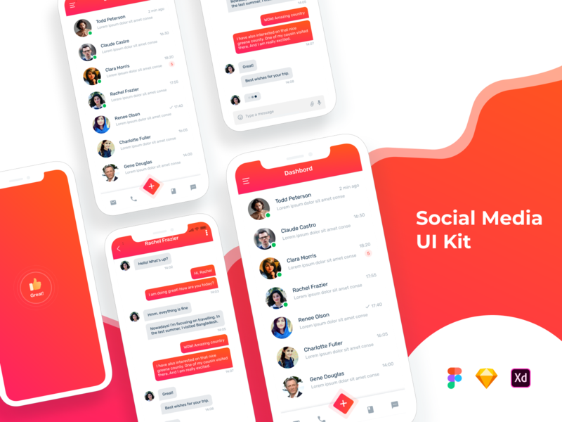 New Social Media App Ui Design ui design register profile user profile app apps application ios app android free psd