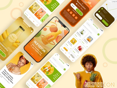 Nutrition App Concept Design nutrition food app design ui flight booking app booking app app apps application psd app free psd android