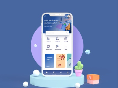 Home Cleaning Concept UI user interfaces layout design app development company web development company website developer app development website design
