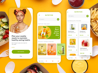 Nutrition App Concept UI user interfaces layout design app development company web development company website developer app development website design
