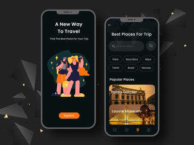 Travel App Mobile UI exploration user profile template flight booking app ui booking app design app apps application ios app android