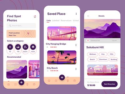 Find Place App Mobile UI app ui user profile app apps application user interfaces layout design app development company web development company website developer app development website design
